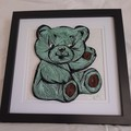 Baby Shower gift, Newborn, Teddy Bear ,  Wall Hanging, ,  Gender neutral