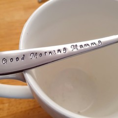 Good Morning Mummy Hand Stamped Spoon,Mother Gift,Mum Christmas,