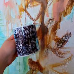 Benji the Black Cockatoo Ceramic Mug