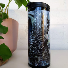 Bronson the Black Cockatoo Thermal Travel Cup