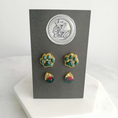 Sarah's Christmas Handcrafted Earrings