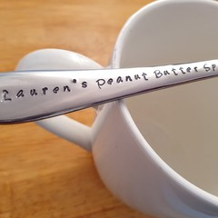 Custom Dessert Spoon,Ice Cream Spoon, Custom, Personalised, Peanut Butter