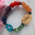Chakras chip elastic bracelet