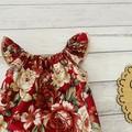 Seaside floral Romper, Size 000 Baby Romper, Baby Girls Playsuit