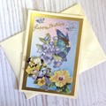 'Birthday  Wishes' with Fairy and Flowers