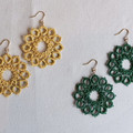 Metalilc tatting lace earrings