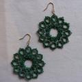Metalilc tatting lace earrings