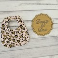 Leopard Print Baby Bib, Baby Bibs