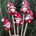 Tiny Santa plant stakes
