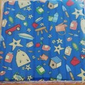28 Precut 5.5in Novelty Print Fabric Squares - I-spy Projects
