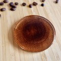 Coffee grounds resin coaster