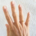 Anxiety beaded double band rose gold wire ring , Stacking Thumb Pinky Midi ring