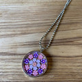 Free Postage! Flower resin Necklace