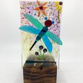 Dragonfly tea light candle stand