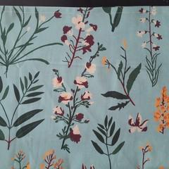 Mint green floral print Tea Towel