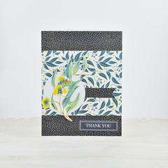 Thank You Card, Australian Wattle, Gum Leaves