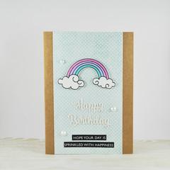 Rainbow Birthday Card, Happy Birthday