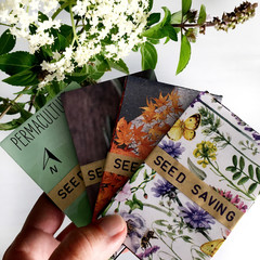 Handmade Seed Saving Packets for gardeners.