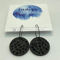 Black and Rubber Spikes Polymer Clay Dangle Earrings #7