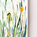 'Rebirth Joy' original acrylic abstract floral painting on canvas