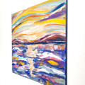 'Before I Go' original acrylic abstract Seascape painting on canvas