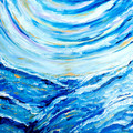 'Uncharted Waters' original acrylic abstract Seascape painting on canvas