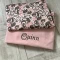 Personalised baby blanket, pram blanket, fabric choices