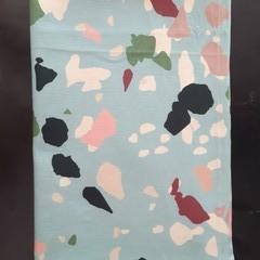 Mint green terrazzo print Tea Towel