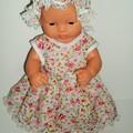 Miniland small doll and mini baby born  cute dolls dress and mop cap