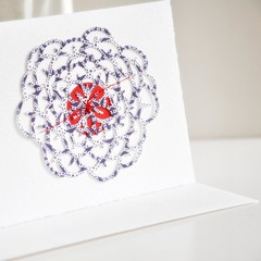 Flower Filigree Cutout Greeting Card | Collage Gift Card | New Baby Card