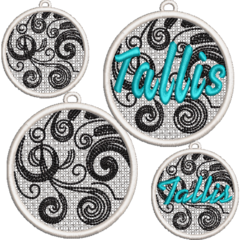 FLS Bauble 2 - Pre-Embroidered
