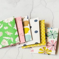 Button Coin Envelopes {6} Summer Mix | Green Pink Blue | Luxe Money Envelopes