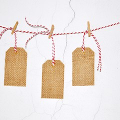 Burlap Gift Tags {10w ties} Large | Christmas Burlap Tags | Rustic Fabric Tags
