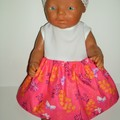 Dress with an elasticated lace headband for Baby Born doll