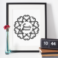 Family Forever Printable with Black Texture