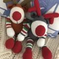 Crochet Reindeer , Christmas decoration