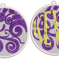 Bauble 6 - Pre-Embroidered
