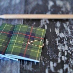 Mini Blank Books {3} Christmas Forest | Mini Journals | Mini Notebooks | Tartan