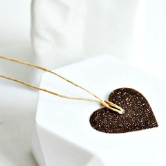 Brown Glitter Heart Tags {10} | Heart Tags | Glitter Tags | Heart Tags