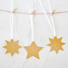XL Kraft Star Tags {6w raffia ties} Blank Kraft Star Tags | Christmas Star Tags