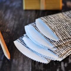 Burlap Print Paper Bags {10} Retro Look Paper Bags | Paper Gift | Holiday Wrap