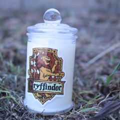 Gryffindor and Hermione scented soy Candle