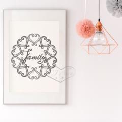 Grey Family Circle Printable Art Phrase