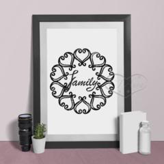 Family Heart Circle Printable Art Print