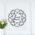 Family Forever Printable Grey Plain Background