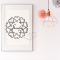 Grey Family Circle Printable Art Phrase