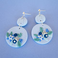 Handmade Floral Statement Earrings