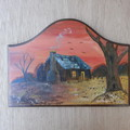 Painted  House wall hanging