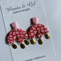 Pinky red large dangle
