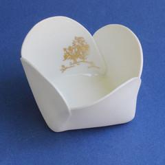 Tiny Origami Gold Tree Bowl